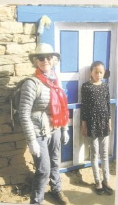 Dr. Rita Lang during her trip to Nepal. Photos provided