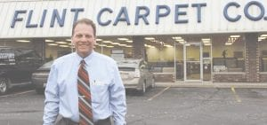 Tim Look, the new owner of Flint Carpet Company, has been working at the business for a total of nearly 30 years and recently took the reins. Although the business is under new ownership, however, Look ensures customers that they'll receive the same great quality in service and products. Photo by Alex Petrie