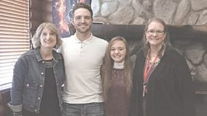 Teacher Lori Anthony, Student of the Month honorees Brennyr Phillips and McKenzie Alden, and teacher Jane Wensko. Courtesy photo