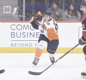 Flint's Fedor Gordeev was traded over the weekend to the Guelph Storm for future draft picks. Photo by Todd Boone/Flint Firebirds