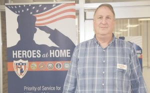 Rick Tuckey has been the veteran services liaison with GST Michigan Works! for the past five years and says he's proud to be able to offer assistance to the men and women who have served our country in the armed forces. Photo by Alex Petrie
