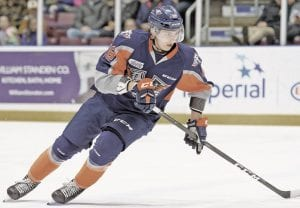 Photo by Todd Boone/Flint Firebirds Flint's Vladislav Kolyachonok scored a pivotal goal to try and keep Flint in the game during Friday's loss at Mississauga.