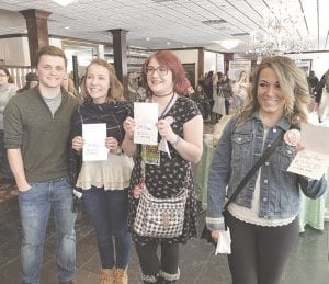 Winners of the Real Life, Real Love contest included couples Trevor Hall and Mariah Hart, who won the third place prize of $250 in GCBA Bucks; Shelby Lane and Nate Clark, who won the second place prize of $500 in GCBA Bucks and Andrea Germaine and Kody Mayhew, who won the grand prize of $2,500 in GCBA Bucks.