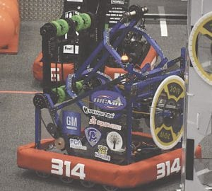 Maelstrom, the rugged and efficient robot designed, built and operated by members of the Big MO Team.