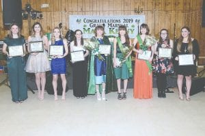 Miss Hibernia and the other contestants in the Miss Hibernia pageant. Photos provided