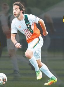 Giuseppe Barone will take the field for the Flint City Bucks for the third-straight season.