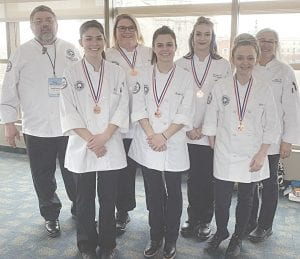 The MCC Culinary Knowledge Bowl team, from left to right: Chef Mark Handy, Martina LaNoue, Jennifer Stock, Kinleigh Jaehnig, Jessalyn Taylor, Dawn Neusbaum, and Lata VonBrockdorff. Photo provided