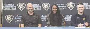 Jasia Caldwell poses for a portrait after signing her letter of intent. Photos provided