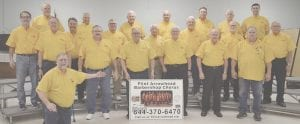 Members of the Flint Arrowhead Barbershop Chorus. Photo by Ben Gagnon