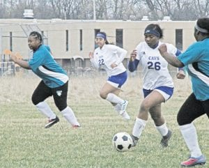 Carman-Ainsworth's Taniya Boggan progresses upfield in a win at Flint last Wednesday. Photo by Brandon Pope