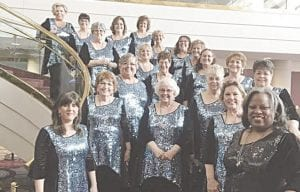 Song of the Lakes Sweet Adelines Chorus. Photos provided