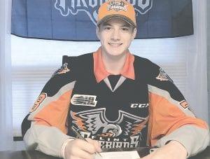 Flint Firebirds 2019 First Round OHL Draft Pick Brennan Othmann.