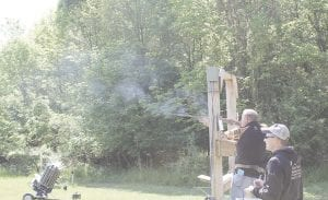 Shooters take to the course for a morning of clay shooting.