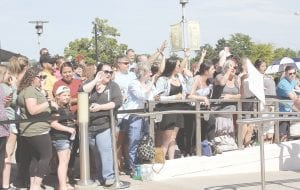 Just a sample of the crowd that turned out to catch a glimpse of Mark and Paul Wahlberg.