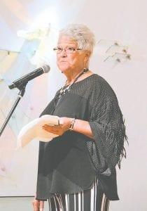 Pat Gruener, a cancer survivor who spoke. Photos provided