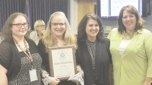 From left are Ashlei Hawley, administrative assistant to the clerk; Clerk Kathy Funk; Deputy Clerk Angie Thygesen; and Economic Enhancement Director Tracey Tucker. Photo provided