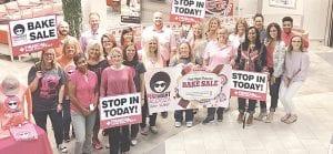 Financial Plus Credit Union employees at Pink Night Palooza. Photo provided