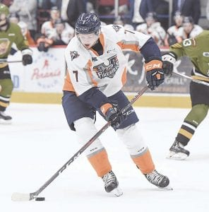 Flint's Jack Wismer had a big game on Saturday night, scoring the Firebirds' first two goals. Photo by Todd Boone