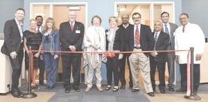 The unveiling of the new Dr. R. Roderic Abbott Medical Education Center. Photo provided