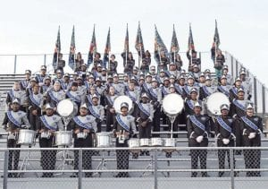 The Carman-Ainsworth High School Blue Brigade Marching Band. Photo provided
