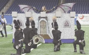 The Carman-Ainsworth High School Blue Brigade Marching Band performed at the Michigan Competing Band Association State Championship, Nov. 2. Photos provided