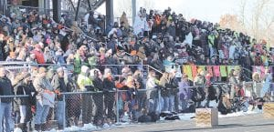 Though overall playoff attendance for football slightly decreased, the sport still drew the most fans of any MHSAA postseason with 348,585 for the 2018-19 season. Photo by Kylee Richardson