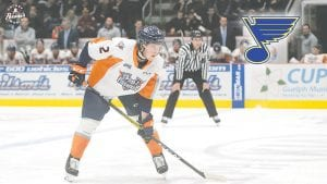 Flint's Tyler Tucker recently inked a deal to become a part of the St. Louis Blues' organization. Photo by Todd Boone/Flint Firebirds