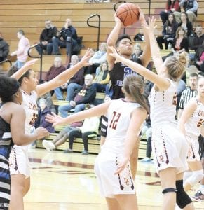 Carman-Ainsworth's Aaliyah McQueen completed her senior year with a first-team All- Saginaw Valley League-South selection. Photo by Kylee Richardson