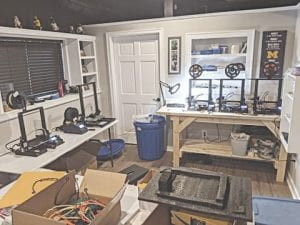 Chad Robertson's production area at home in Goodrich. Photos provided