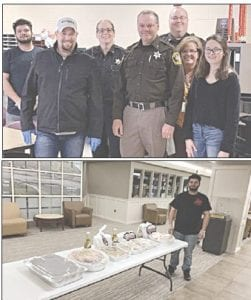 A Leo's employee serves lunch at the Lapeer County Sherriff's Department, April 9. Photos provided