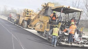 Crews are working to repave the northbound stretch of I-475. Work is expected to wrap up around the July 4 holiday. Photo courtesy of the Michigan Department of Transportation