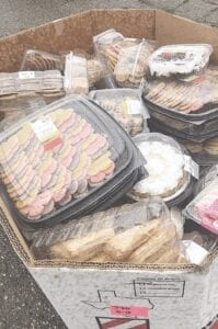 Fresh baked goods were given away during a grocery drive thru held at Shea Automotive Group last Tuesday, May 19.