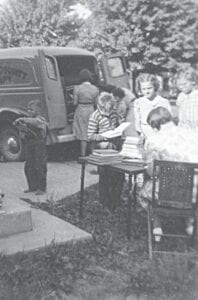 A look at a Bookmobile in the 1950s. Photos courtesy of the Burton Area Historical Society