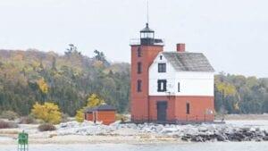 The lighthouse at Mackinac Island. Photos courtesy of the Burton Area Historical Society