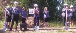ELGA Credit Union executives broke ground for a new branch and headquarters on Grand Pointe Blvd. and Hill Road last week. Photo by Lania Rocha