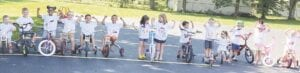 Kids from Little Rascals Daycare pedaled their bikes to raise money for Sophia Lane. Photo provided