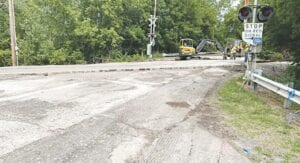 The early project phase on Seymour Road between Main Street and Lynn Street. Photos provided