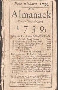 A look at the original Old Farmer's Alamanck. Photos courtesy of the Burton Area Historical Society