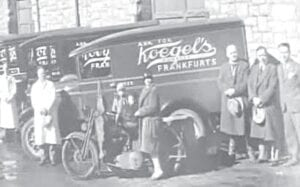 This old truck was from Flint-based Koegel hot dogs. Photo courtesy of the Burton Area Historical Society