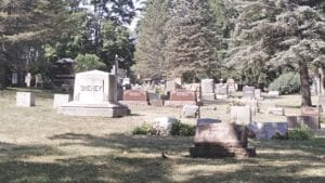 The Perry McFarlen cemetery was established in 1864 at the northeast corner of Perry and Genesee roads in Grand Blanc Township. Photo by Lania Rocha