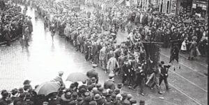 A photo of an early Labor Day parade. Photos courtesy of the Burton Area Historical Society