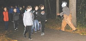 The 2019 Trail of Terror drew a record crowd to Flushing County Park. File photo