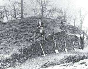 A Native American burial mound. Photo courtesy of the Burton Area Historical Society