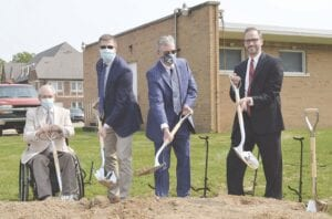 Genesee County commissioners and judges broke ground on the new Juvenile Justice Center site.