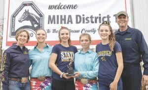 From Left to Right: Coach Christina DeSota, Cate DeSota, McKenzie Melosh, Aubrey Stockwell, Bella Kirby and Coach Nathanael DeSota Photo provided