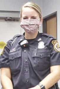 Ofc. Brenda Flasher Photo by Gary Gould