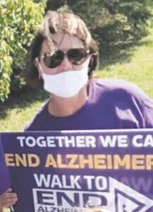 Mitzi Forrest has participated in the Walk to End Alzheimer's since 2015. This year, the walk was a little different. Courtesy photo