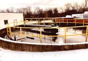 An outside view of the city's wastewater treatment plant. Photo provided