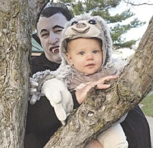 Among the people to attended the Not-So-Spooky event were Scott LaDuke (a.k.a. Count Dracula), and his 10-monthold grandson, William, who was dressed as a sloth. Courtesy photo