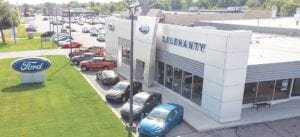 An aerial shot of the former Delehanty Ford dealership. Photo provided